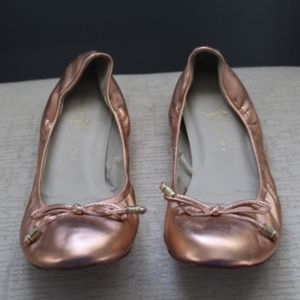 Ivanka Trump Metallic Ballet Flats
